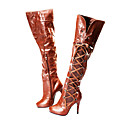 PU Upper High Heels Boot With Chalaza Fashion Shoe(0987-cA31561)