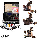 Damascus Hand-made 3 Tattoo Machines Kit with Superior LED Power Supply