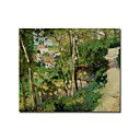Stretched Handmade The Rising Path,Pontoise Painting  by Camille Pissarro (0192-YCF103942)