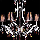 Iron Chrome 6-light K9 Crystal Chandelier With Lamp Shade (0835-AD88115)