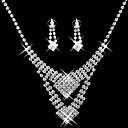 Gorgeous CZ Cubic Zirconia Wedding Bridal Jewelry Set(Including Necklace,Earing)(0986-S006)