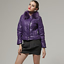 Rabbit Hair Collar Long Sleeves Coat / Women's Outerwears (Purple) (FF-A-BK0997016)