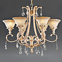 6-light Enamel Paint European Style Chandelier (0835-CH036-6)