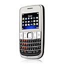 C3 Support Three Sim Card TV FM Flashlight QWERTY Cell Phone Black(2GB TF Card)