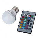 E27 1W RGB Light Remote Controlled LED Ball Bulb (110-240V)