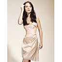 Sheath/Column Strapless Short/Mini Taffeta Bridesmaid/Cocktail/Gossip Girl Fashion Dress
