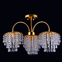 4-light Gold Color Bright Chrome K9 Crystal Chandelier (1069-J9856-X4)