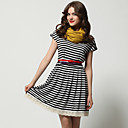 TS Striped Short Sleeve Day Dress