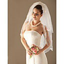 2 Layers Elbow Length Wedding Veil (TS032)