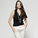 Back Perspective Lace Cowl Neck Sleeveless Vest / Women's Vests (FF-8503BE002-0789)