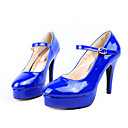 Patent Leather Upper High Heels Closed-toes Fashion Shoe (1131-811-2)