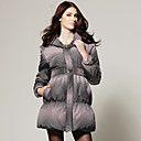Lapel Check Printed With Belt Down Coat / Women's Coats (FF-B-0859210)