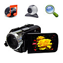 5MP CMOS 8x digitale zoom digitale video camera met 3,0 inch TFT LCD-scherm mp3 functie PC-camera (hd-868)