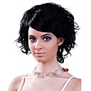 Capless 100% Human Hair Wig Chin Length High Quality Black Curly Hair Wig