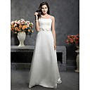 Princess A-line Floor-length Satin with Bow Wedding Dress