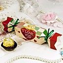 """Sweet Love Bear"" Candy Wrapper Style Favor Box (Set of 12)"