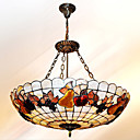 24 Inch Tiffany-style Natural shell Material Inverted Pendant Light  (0835-D8010)