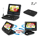 7 Inch Portable DVD Player with Swivel Screen + Analog TV (HV19)