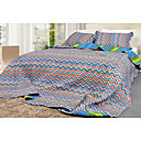 Zigzag Bedspread 3pcs Set (Blue)(1418)