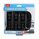 4 station de charge pour Nintendo Wii port noir