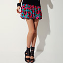 Women's Rose Print Skirt