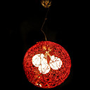 Modern Pendant with 3 Lights - Red Ball Shape Design