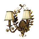 2-lightFabric Wall Sconce
