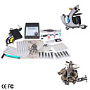 Complete Tattoo Machine Kit 2 Guns with LCD Power Supply