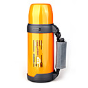 Durable Sports Water Bottle Vacuum Camping Pot with Belt 750ml Yellow