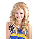Capless Long Top Grade Quality Synthetic Blonde Curly Hair Wig