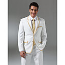 Single-Breasted 2 Button Non-vented Notch Lapel Wool Groom Wear/ Tuxedo/ Men's Suit Jacket (PMLFXZ0118)