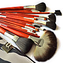 Makeup Brushes Set Kit With Zebra Grain Case (18 PCS)