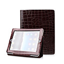 Brown 2 in 1 Protective Crocodile Leather Case For iPad