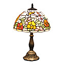 Tiffany Style Swallow Adorned Stained Glass Table Lamp