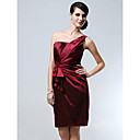 Stretch Satin Sheath/Column One Shoulder Knee-length Cocktail Dress inspired by Katherine Heig