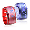 paire de conception future Bracelet montre-bracelet led bleu - bleu et rouge