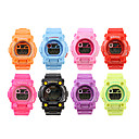 Waterproof Sporty Single Movement Digital Stop Automatic Watch with Night Light - 5 Pack Random Color