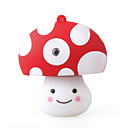 8GB Cartoon Mushroom USB Stick (White)