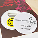 Personalized Bottle Opener/Fridge Magnet - All you need is love (set of 12)