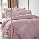 Princess Combed Cotton 6-piece Queen Duvet Cover Set (Pink)