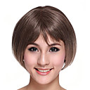 Part Hand Tied Capless High Quality Synthetic Gray Brown Bob Hair Wig
