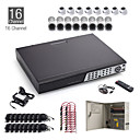 16CH CCTV Kit + 8pcs 15M White Dome Camera + 8pcs 25M White Camera + 1TB HDD