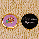 Personalized Ringstones Pink Flower Compact Mirror