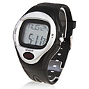 Calorie Counter Pulse Heart Rate Monitor Stop Automatic Watch - Sliver