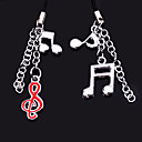 Musical Note Cell Phone Charms (set of 6 pairs)