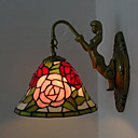 Antique Inspired Wall Light in Tiffany Style - Rose patterned
