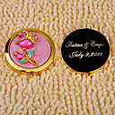 Personalized Ringstones Pink Rose Compact Mirror