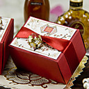 Asian Style Cherry Blossom Favor Box With Gold Charm (Set of 12)