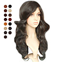 Capless longues naturelles noires ondules couleurs perruque de cheveux de multiples disponibles