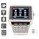 Premiere - Montre-Tlphone Portable Quadribande Dual SIM en acier inoxydable  (WiFi, Java, MP3 / MP4)